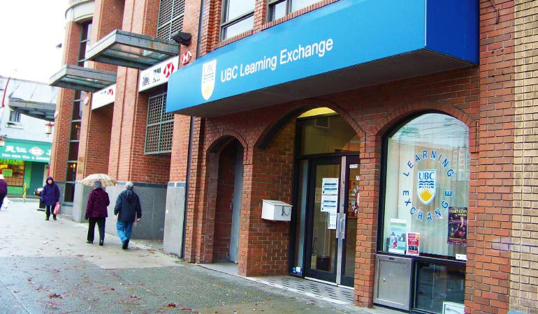 UBC Learning Exchange entrance